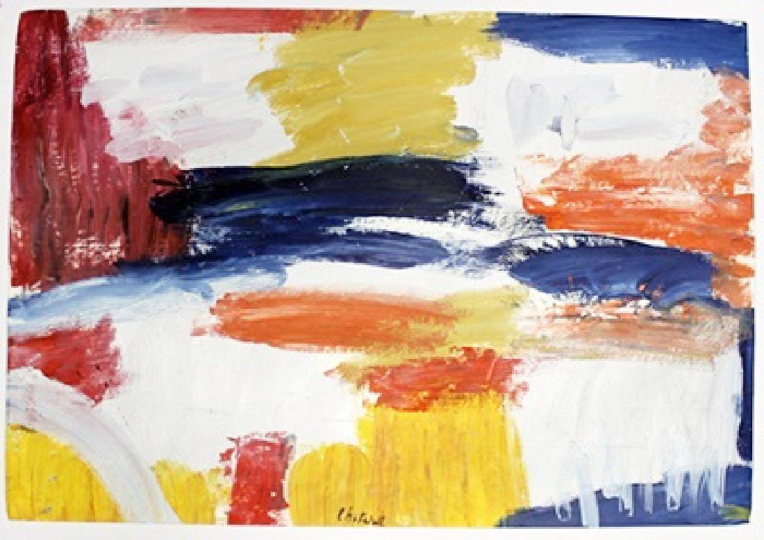 The City - Joan Mitchell - Oil On Paper - 2