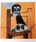 Pablo Picasso - Owl on a chair and sea urchins -