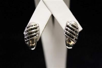 Fancy Black Diamond Silver Earrings (26M)