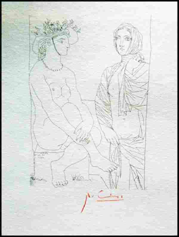 Signed Pablo Picasso Etching PP27
