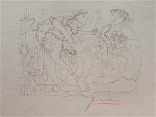 Signed Pablo Picasso Etching PP68