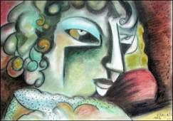 Ms Diana Marc Chagall Pastel On Paper