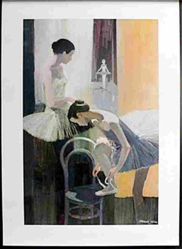 Fine Art Print Dancer Tieing shoe by Frank Hill