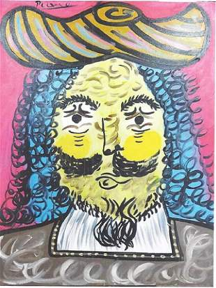 Mousquetaire IV Pablo Picasso Oil On Canvas