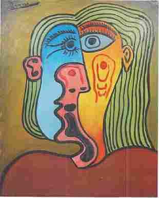 Jaqueline Pablo Picasso Oil On Canvas