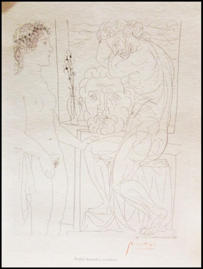 Signed Pablo Picasso Etching PP49