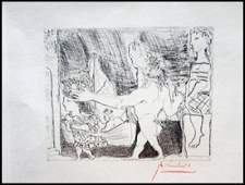 Signed Pablo Picasso Etching PP14