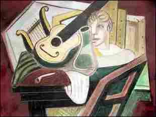 Juan Gris Pastel On Paper