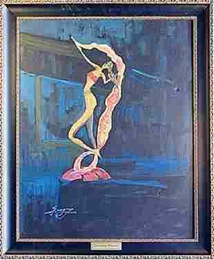 Oil on Canvas Fantasy Dancer by Sergey
