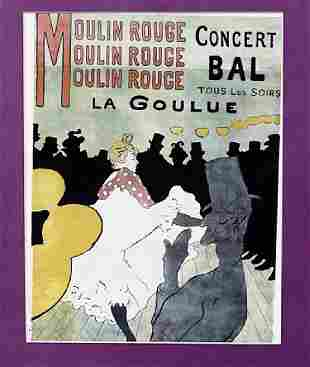 Henri de Toulouse Lautrec Moulin Rouge La Goulue