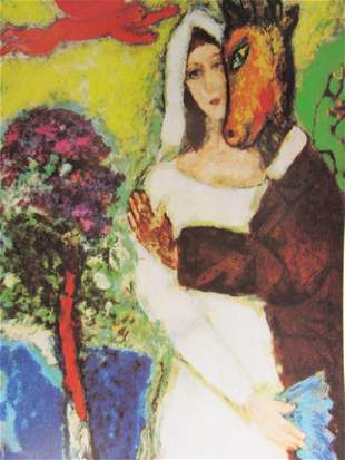 Signed Lithograph Marc Chagall H177