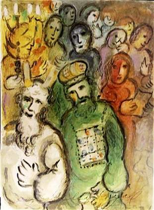 Marc Chagall Lithograph The Story of Exodus