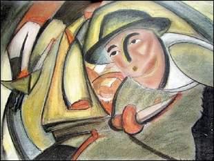 Marcel Duchamp Pastel On Paper