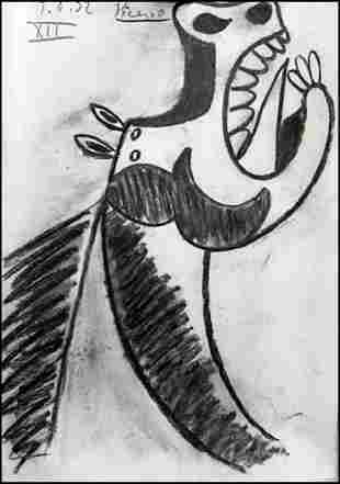 Pablo Picasso Drawing On Paper 0089