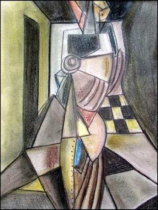 Carlo Carra - Pastel On Paper