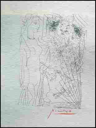 Signed Pablo Picasso Etching PP21