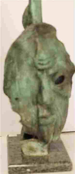 Old Age Patina Bronze Sculp Salvador Dali