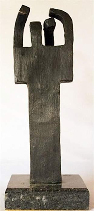Bronze Sculpture Marble Base Edouardo Chillida