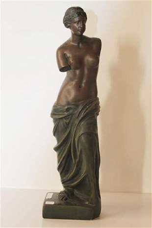 Nude Bust Bronze Sculp Moreau