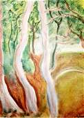 The Turning Road Andre Derain Pastel On Paper