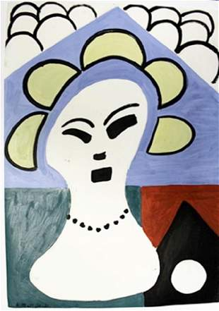 Woman With Pearls Henri Matisse Oil On Paper
