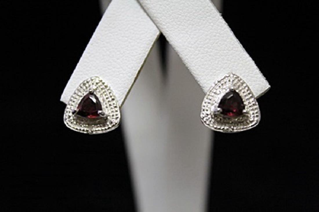 Gorgeous Garnet Silver Earrings (55M)