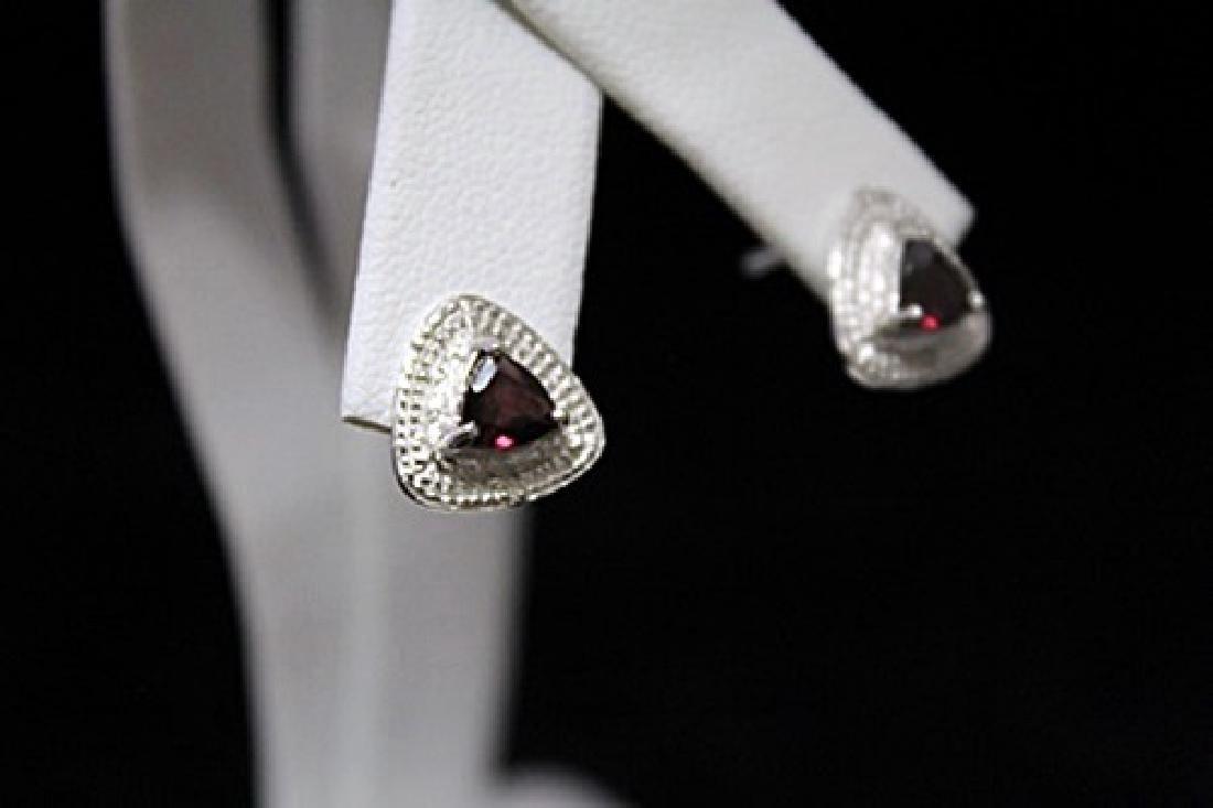 Gorgeous Garnet Silver Earrings (55M) - 2