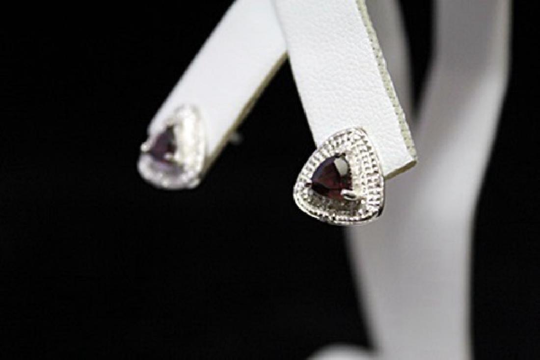 Gorgeous Garnet Silver Earrings (55M) - 3