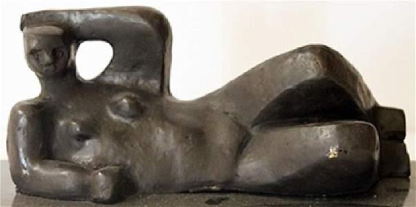 Resting Man - Bronze Sculpture - Henry Moore