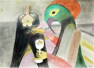 The Writer Victor Brauner Paster On Paper
