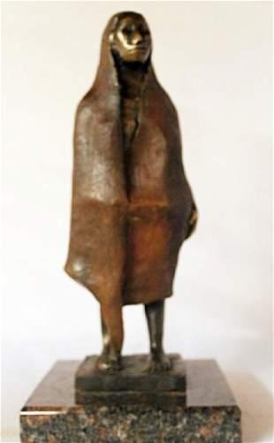 Bronze Sculpture Marble Base Gorman