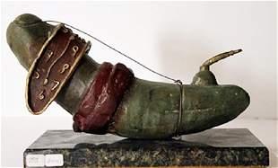 Limited Edition Patina Bronze Sculpture Salvador Dali