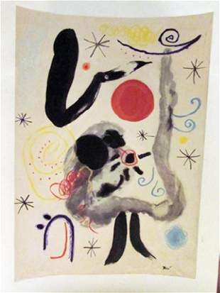 Joan Miro The Dragon Watercolor