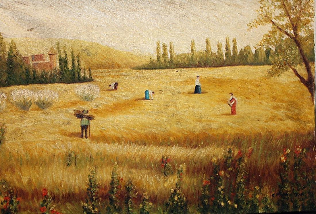 Camille Pissarro - Oil On Paper