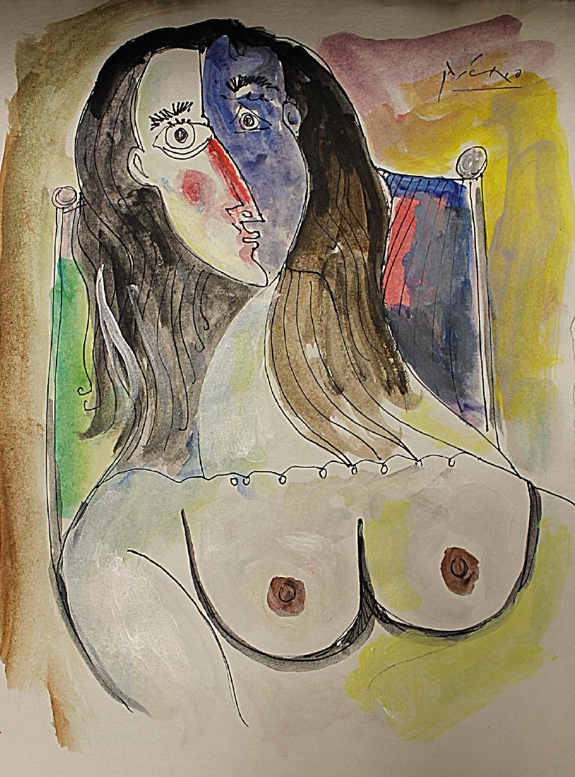 Pablo Picasso - Watercolor 191H