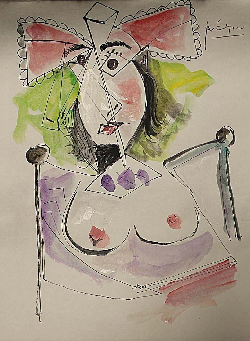 Pablo Picasso - Watercolor 189H