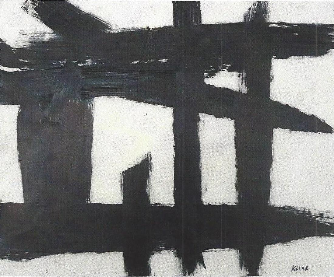Franz Kilne - Oil On Paper
