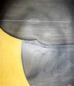Untitled Oil On Paper - Alberto Burri