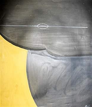 Untitled Oil On Paper Alberto Burri
