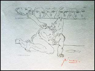 Signed Pablo Picasso Etching PP35