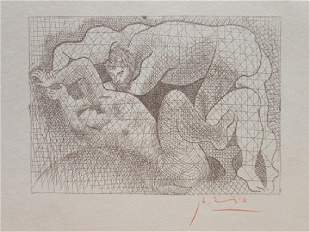 Signed Pablo Picasso Etching PP91