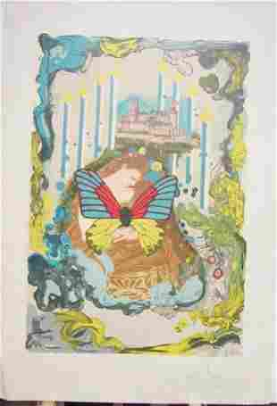 Hand Signed Limited Edition Dali Lithograph