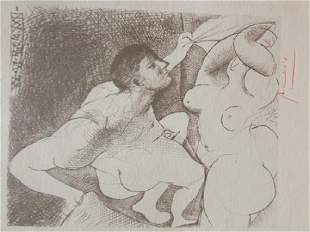 Signed Pablo Picasso Etching PP96