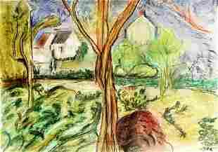Tree Of Life Georges D Espagnat Pastel On Paper