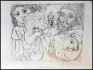 Signed Pablo Picasso Etching PP33