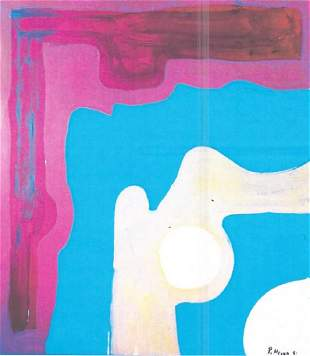 Composition Patrick Heron Oil On Paper