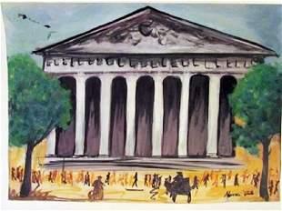 Maurice Utrillo Le Petit Palais Watercolor