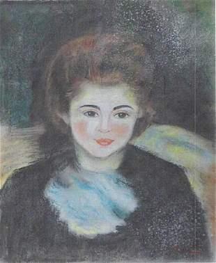 Magdalena Pierre Auguste Renoir Pastel On Paper