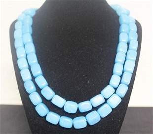 Blue Turquoise Necklace 7ZF