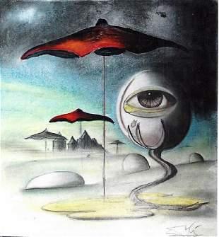 The Eye Salvador Dali Pastel On paper